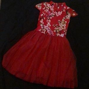 Other - Girls Red Chinese party dress